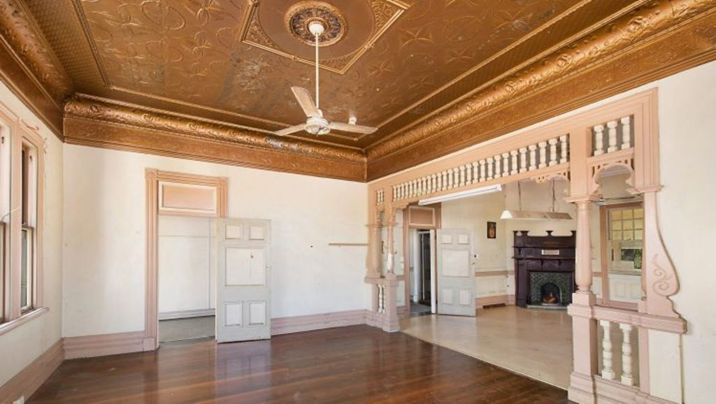Pressed metal ceiling have survived since the Queenslander's construction. Photo: Supplied