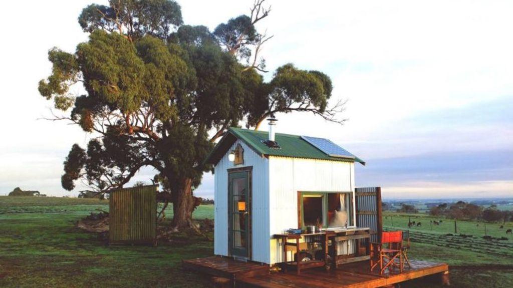 The original Shacky took up temporary residence on a farm in the Otways. Photo: Facebook/Shacky.