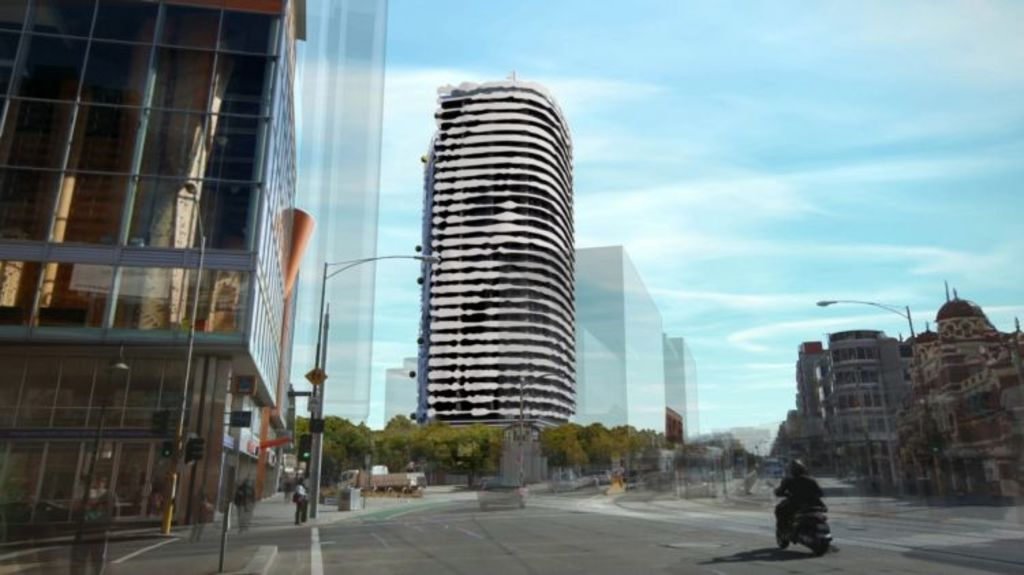 Melbourne's William Barak building, as seen in development renders. Photo: Grollo