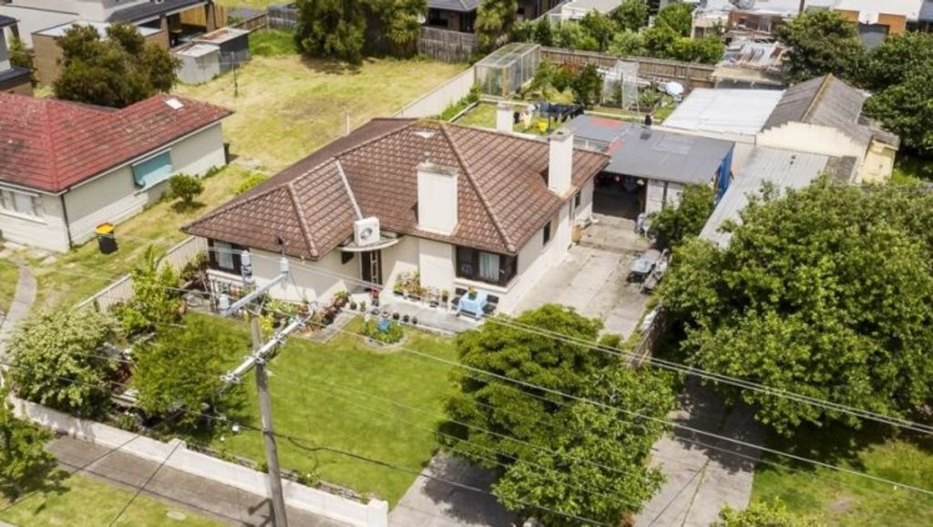 A site advertised for its development potential sold for $1,245,500 in Prince Charles Street, Clayton, at auction in December. Photo: Ray White