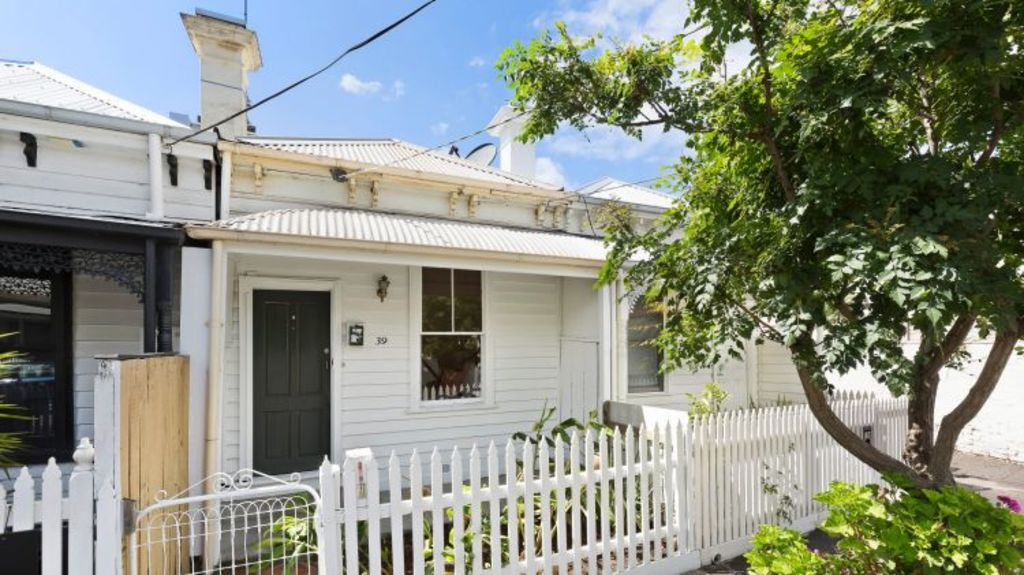 A 120 year old, one bedroom weatherboard at 39 Cobden Street South Melbourne is listed at $850.000 - $900.000. Photo: Urban Angles