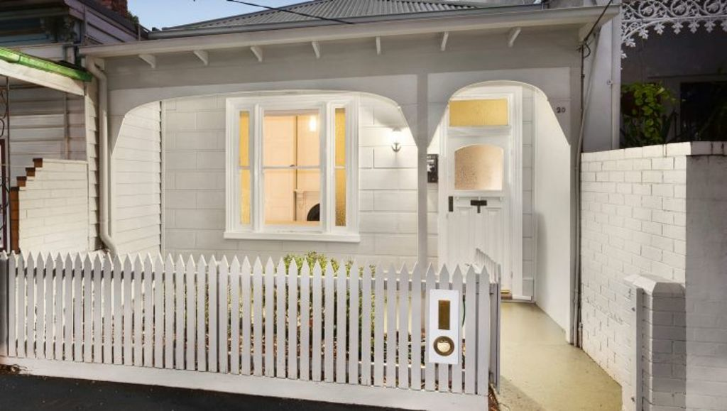 This two-bedroom cottage at 20 Lyell Street in South Melbourne has just hit the market. Photo: Ryan Chenoweth