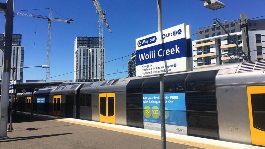 Wolli Creek train station opened in 2000.