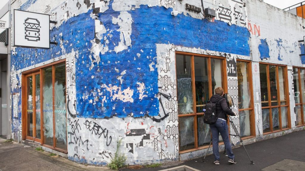 Anti-hipster movement: 16 windows panes were smashed at Footscray burger joint 8Bit in January. Photo: Jason South