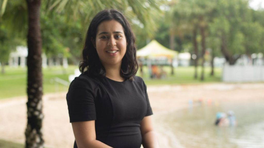 Sydneysider Neha Chopra moved to Darwin to take up a graduate role with the NT government and hasn't looked back since. Photo: Shannon Ruddock