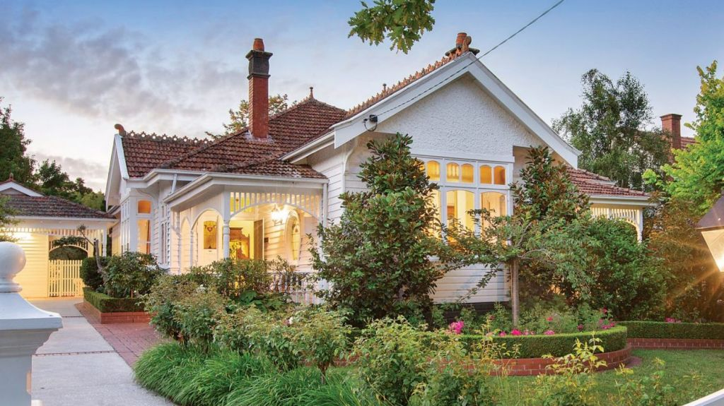 This is the quintessential Edwardian family home: 9 Victoria Crescent, Mont Albert. Photo: Marshall White