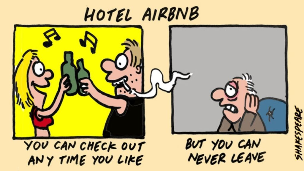 Airbnb critics say its main income is derived from opportunist owners and tenants letting whole apartments in key holiday areas.