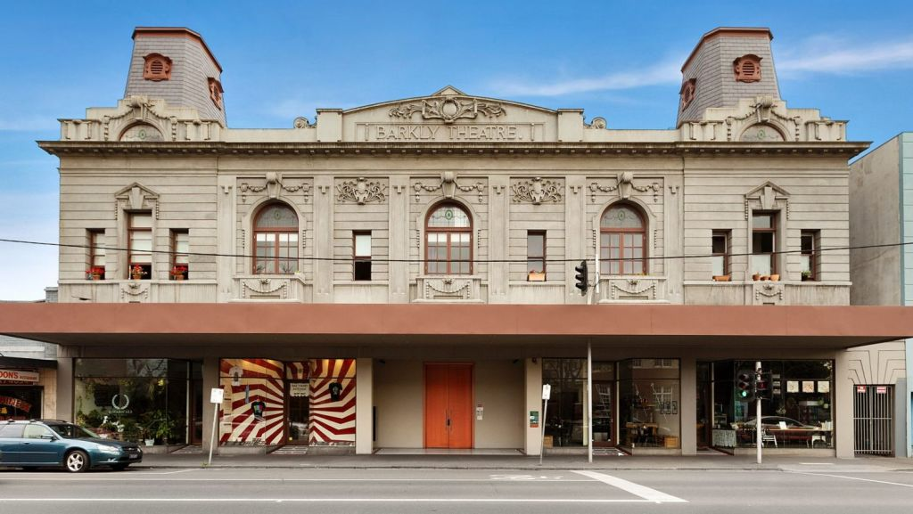 Footscray appeals to many for its ability to match heritage with new. Behind this historic Barkly Theatre is an apartment building. Photo: Village Real Estate