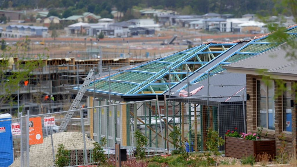 Detached house construction is on the rise in Canberra according to a the latest HIA report. Photo: Graham Tidy