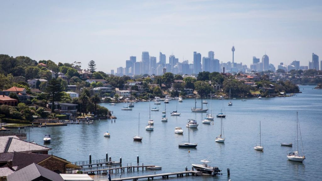 Views onto Sydney Harbour from the end of Mount Street in Hunters Hill. Photo: Anna Kucera
