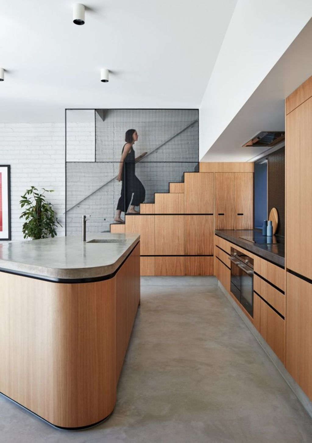 MAKE Architecture's Perimeter House includes a sensational kitchen Photo: Peter Bennetts