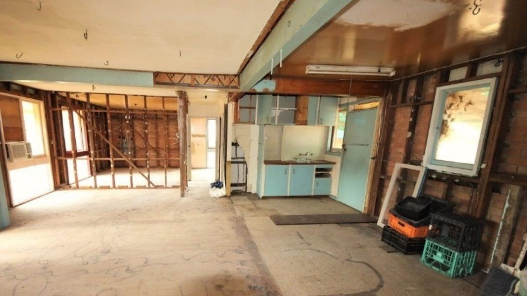 The property needed extensive work including gyprock on the walls.