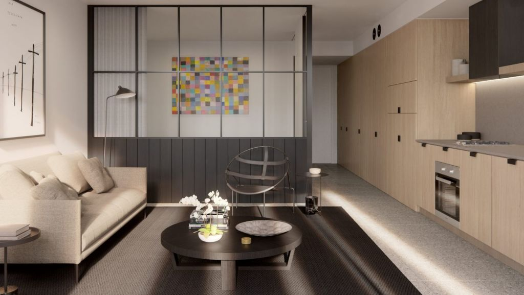 The Surry will have 24 apartments, some with living rooms like this one. Photo: Artist's impression