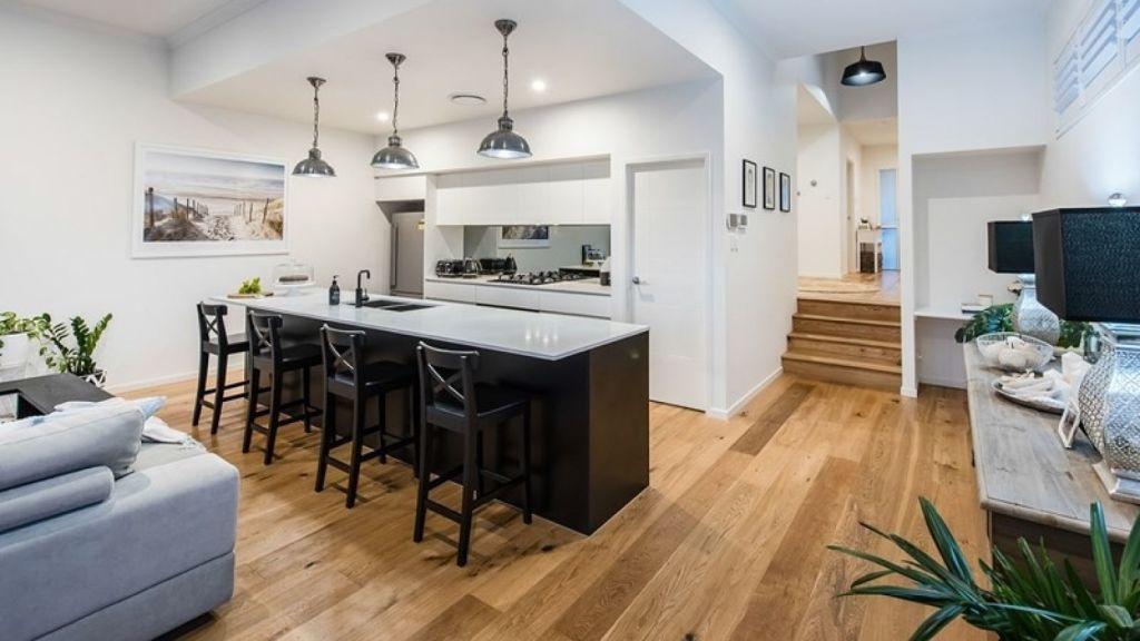 70 Stephen Street's kitchen, with American oak flooring. Photo: Supplied