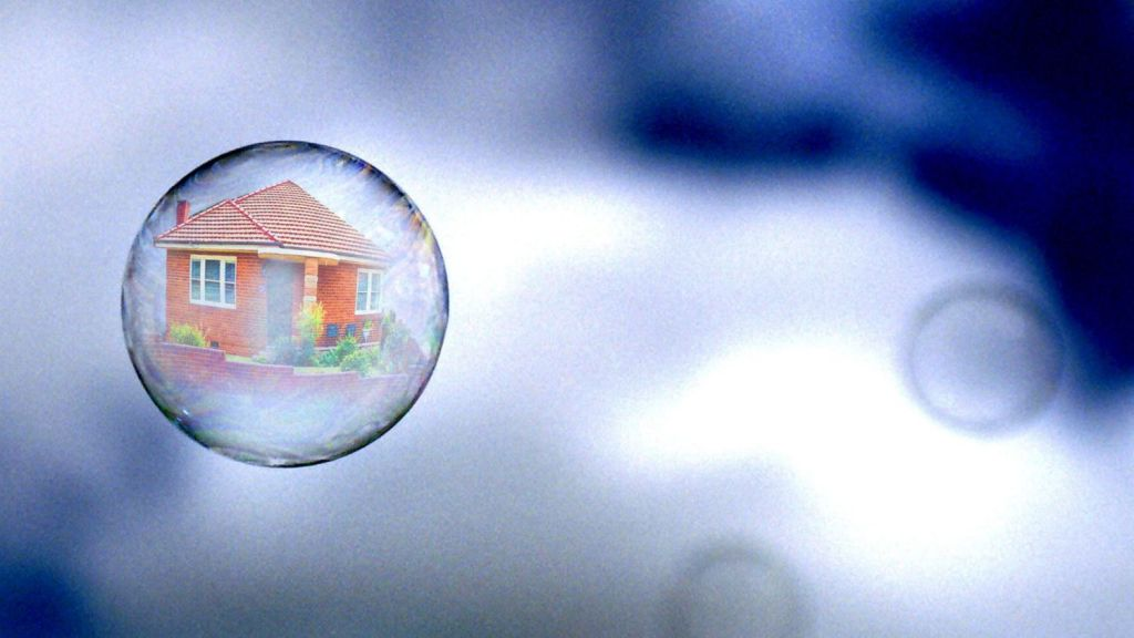 If the housing bubble pops, house prices would fall back to a more sustainable level. Photo: Greg Newington
