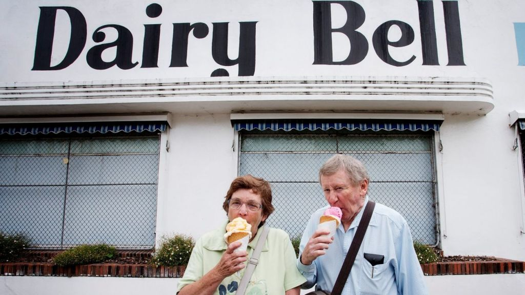 Victoria's ice-cream lovers rued the day Dairy Bell shut the doors on some of its shops, including the one at Malvern East. Now a new chapter is starting at the site with the Hedgeley Malvern East development. Photo: Paul Jeffers