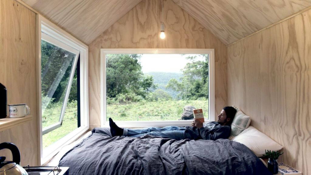 One of Unyoked's tiny homes in the Southern Highlands, which offers people the chance to disconnect and embrace the wilderness.