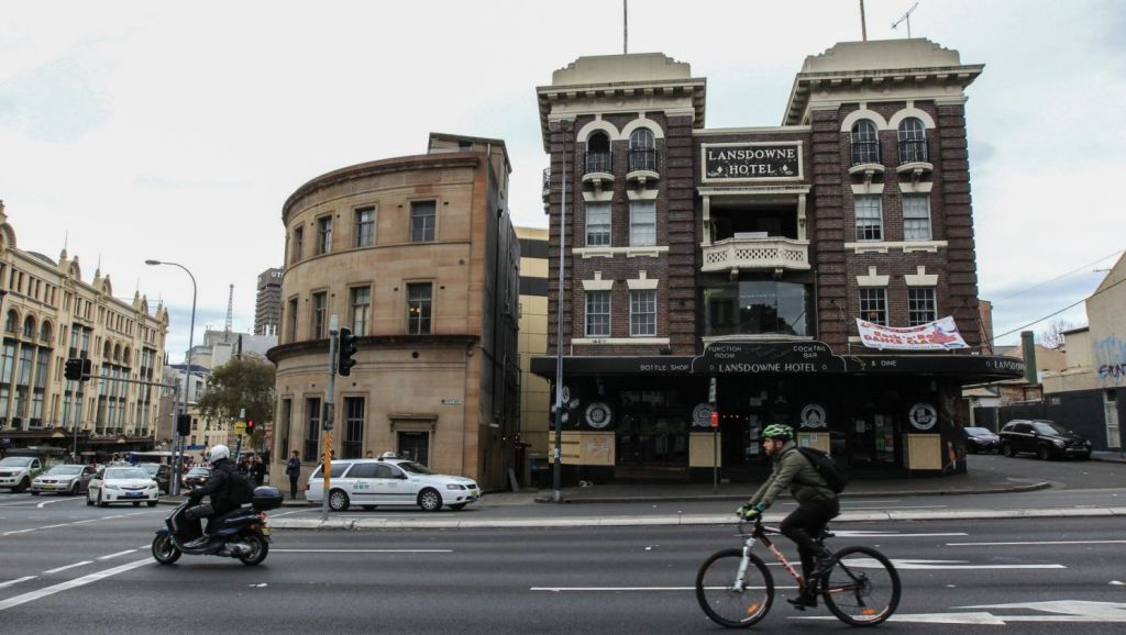 Another one bites the dust – it was last drinks at the Lansdowne Hotel in 2015. Photo: Peter Rae