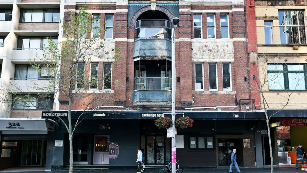 The Exchange Hotel on Oxford Street, now closed. Photo: Sarah Keayes