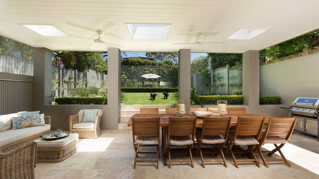 A covered terrace makes the most of the outdoors at 18 Rivers Street, Bellevue Hill. Photo: Supplied