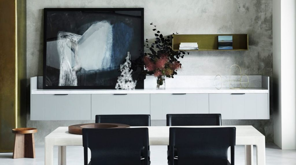 Art lands depth in a Lynch-designed home. Photo: Sharyn Cairns