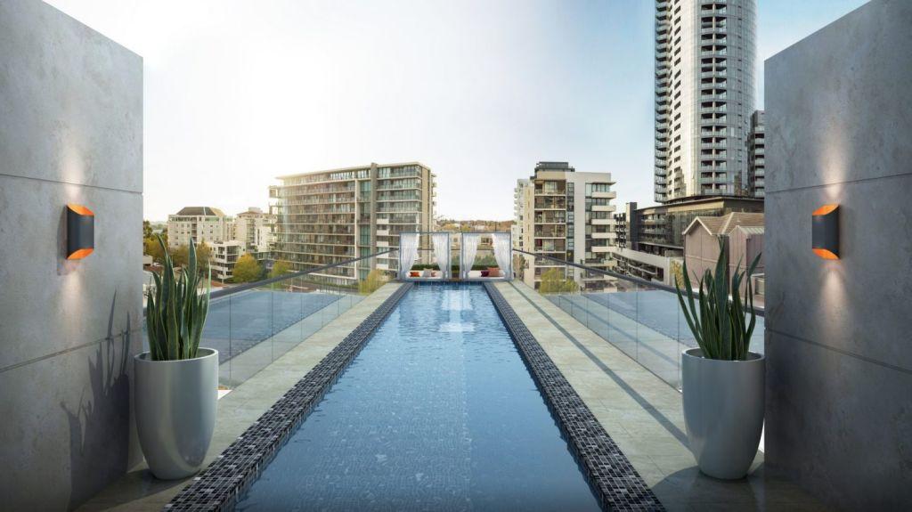 The luxurious pool at 661 Chapel Street. Photo: Gamuda Land