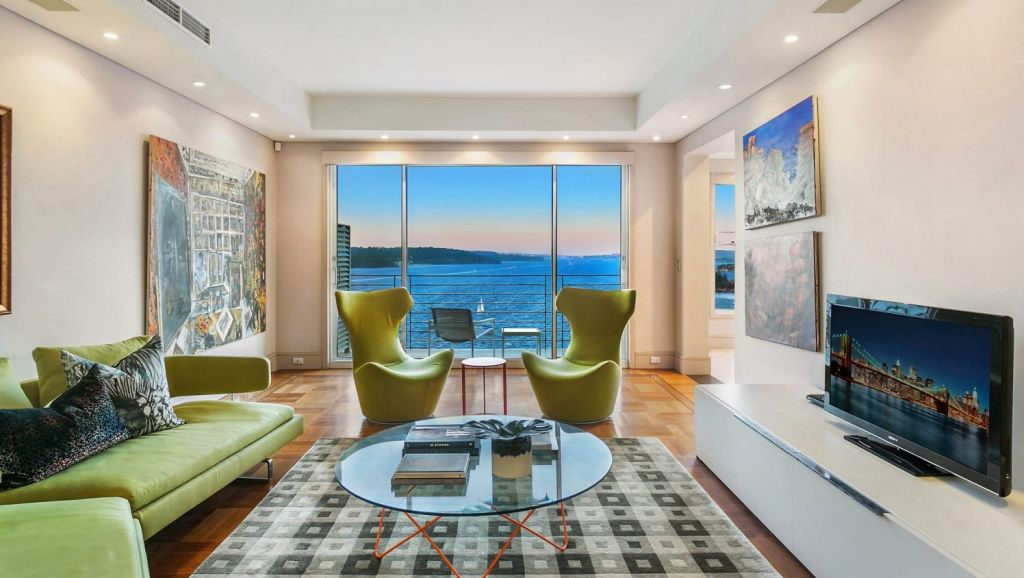 This three-bedroom spread is set in Wentworth Towers in Point Piper.