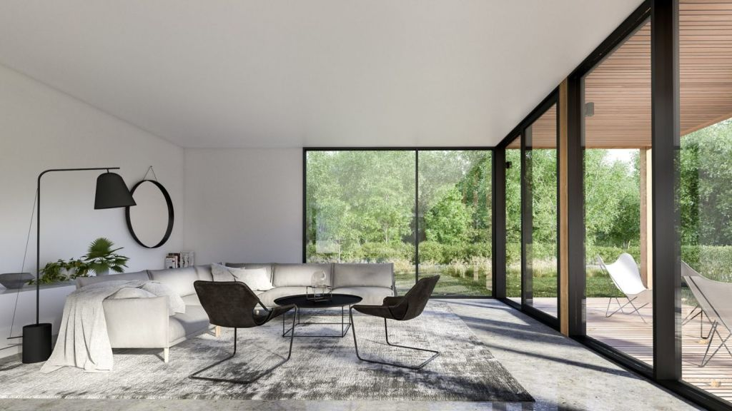 The first house in Barwon Heads is due for completion next month. Photo: Auhaus Architecture