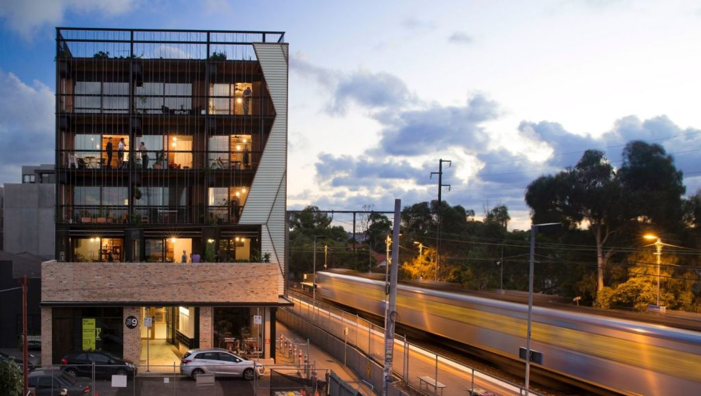 The Commons, a block of 24 apartments in Florence Street, Brunswick, designed by Breathe Architecture. Photo: Andrew Wuttke
