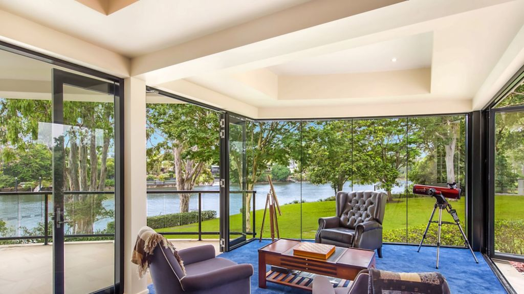 The perfect spot by the window to read a book and enjoy the river view. Photo: Supplied