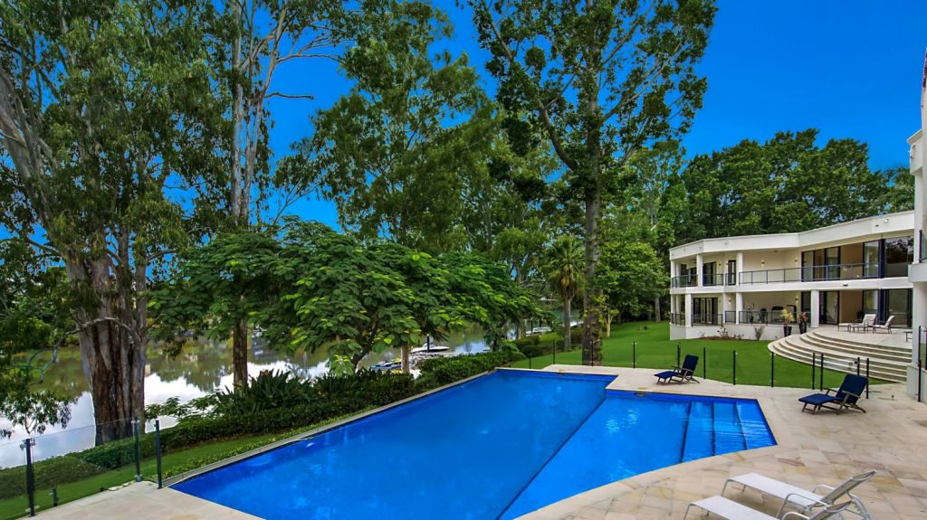 An infinity-edge pool overlooks the river. Photo: Supplied