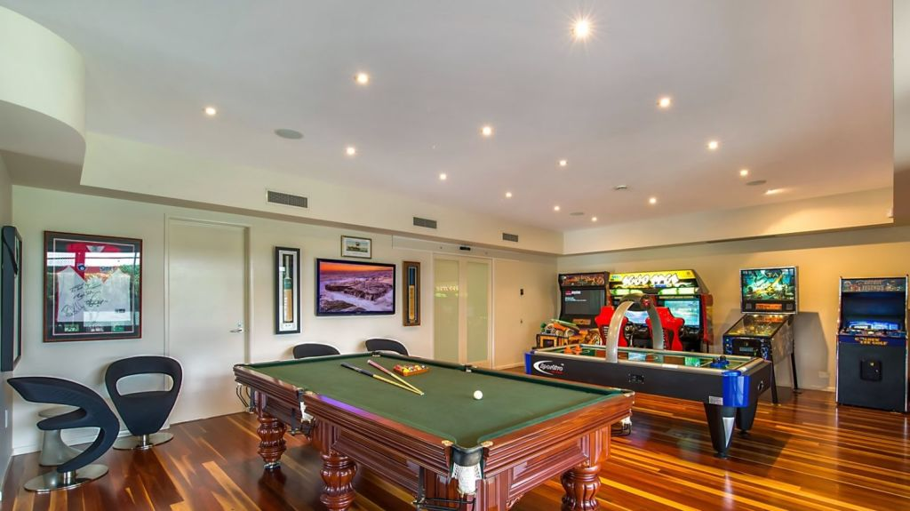 The games room is not just for kids. Photo: Supplied
