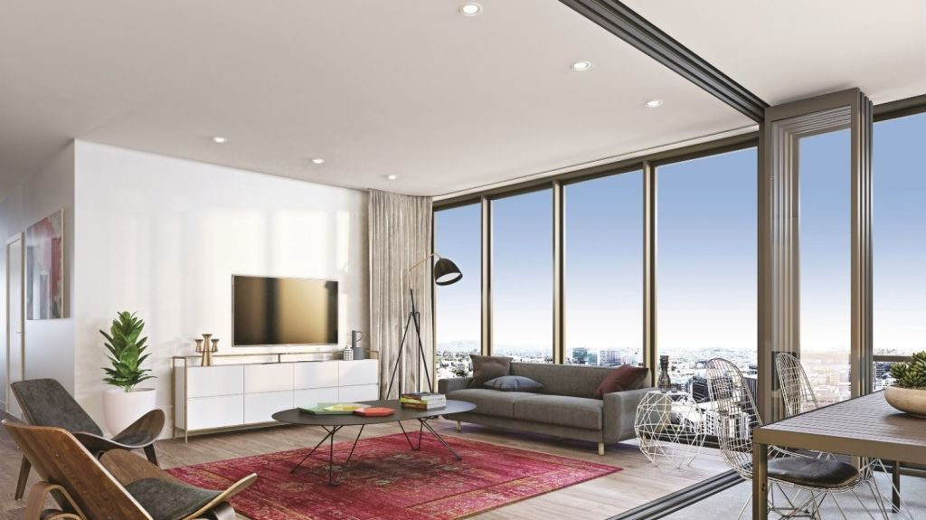 Self-cleaning wonder glass is a smart living feature of a development in Brisbane. Photo: Supplied