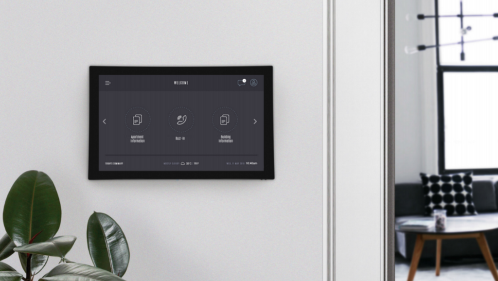 WE-Life is a cloud based system that can be used in a range of ways by apartment dwellers, including storing appliance warranties and as an intercom. Photo: Ashley Thompson Digital