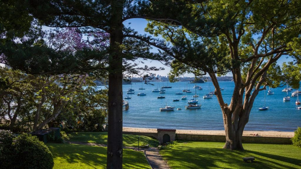 The view north over Sydney Harbour from Elaine. Photo: Supplied