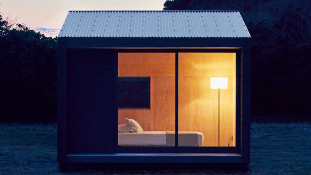 The MUJI hut is a nine square metre prefab cabin. Photo: MUJI