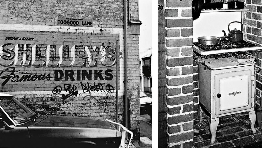 An old sign in Erskineville and a Metters Kooka stove. Photos: Fairfax Media