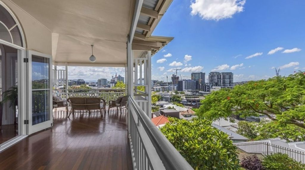 The outlook from the expansive deck at 30 Waverley Street, Teneriffe. Photo: Ray White New Farm