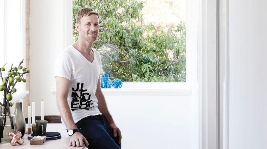 Designer and furniture maker Frag Woodall of MrFrag Studios in his Sydney home. Photo: Eve Wilson