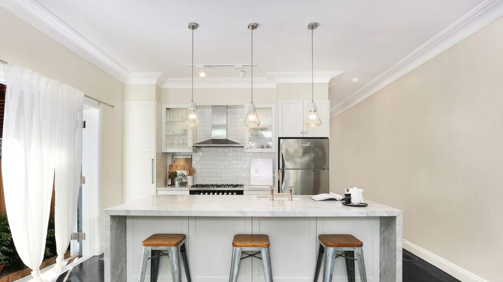 88A Awaba Street, Mosman: Kitchens with breakfast bars are popular among families designing their own family home. Photo: Supplied