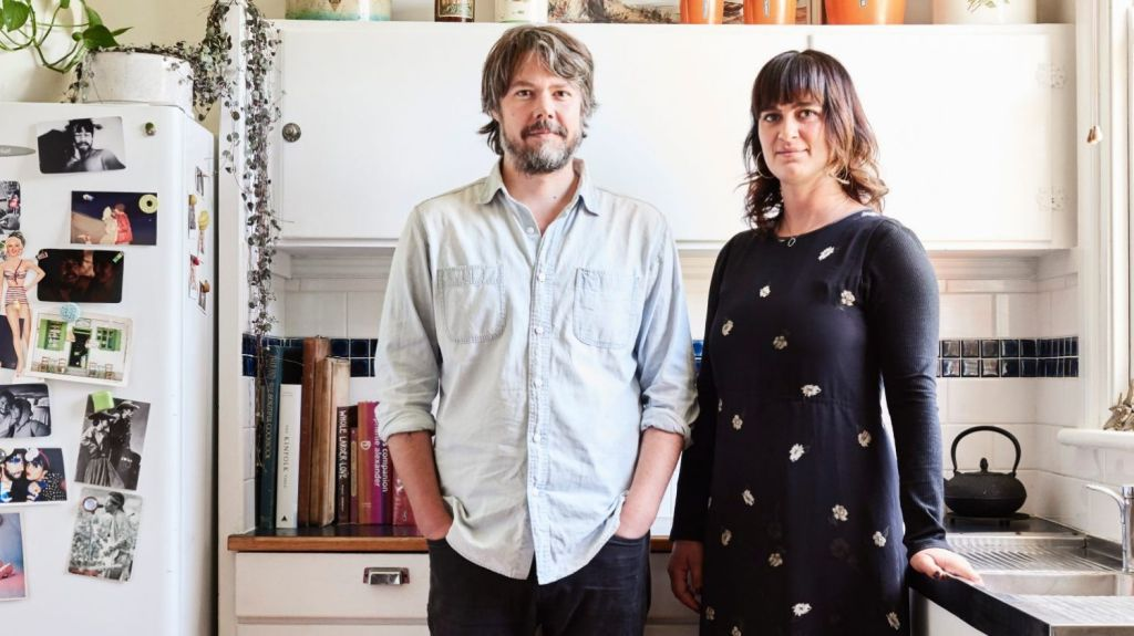 Jake Cole and Lilli Waters in their Pascoe Vale home. Photo: Eve Wilson