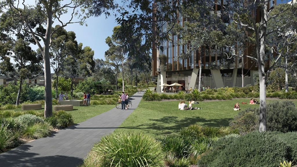 At The Orchards in Sydney, the apartment buildings have been designed to fit the site. Photo: Sekisui House