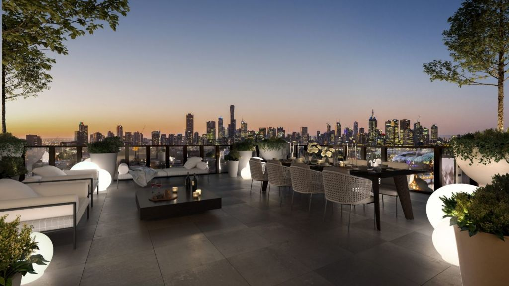 Rooftop vistas at Yarra One. Photo: Artist's impression