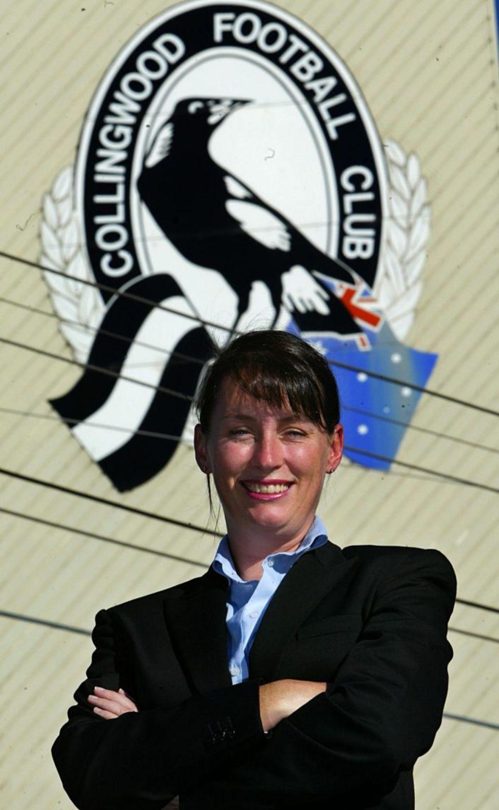 Joining the Collingwood board in 2004. Photo: Sebastian Costanzo