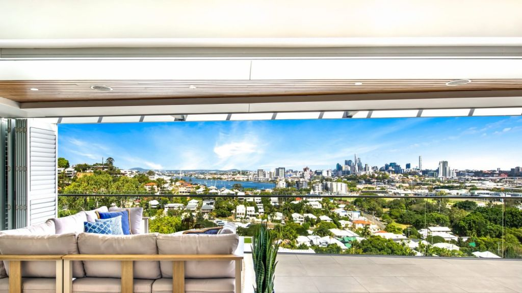 The top levels of Crosby Road, Ascot, frame picture-perfect views. Photo: Supplied