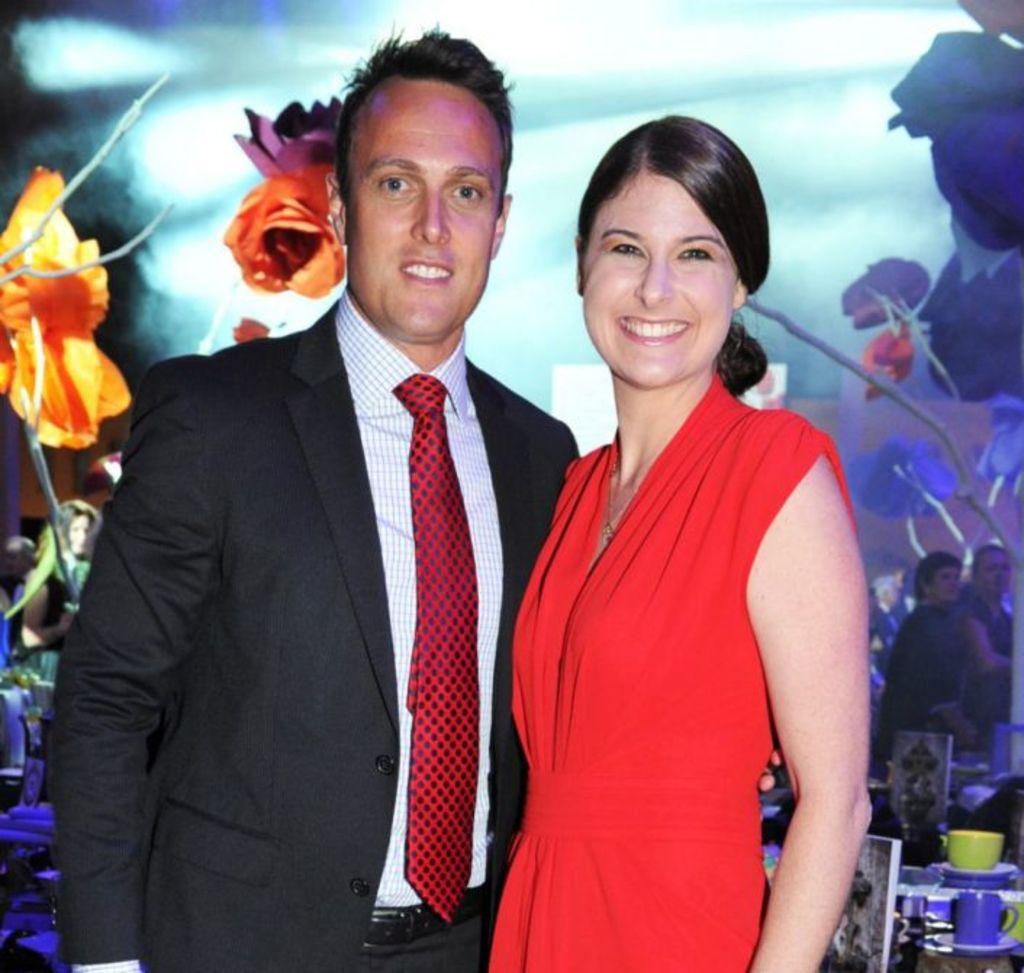 Matt Shirvington and his wife Jessica. Photo: Belinda Rolland Photography.