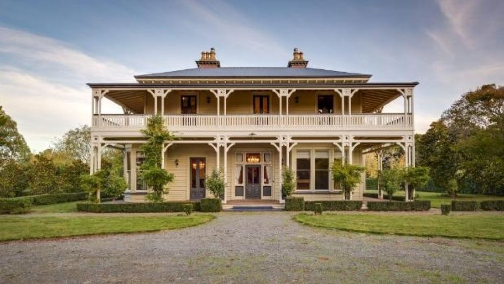 This colonial mansion in north Canterbury, built in 1885, has been abandoned by its British owners whose dream move fell through. Photo: Harcourts-Twiss Keir Realty