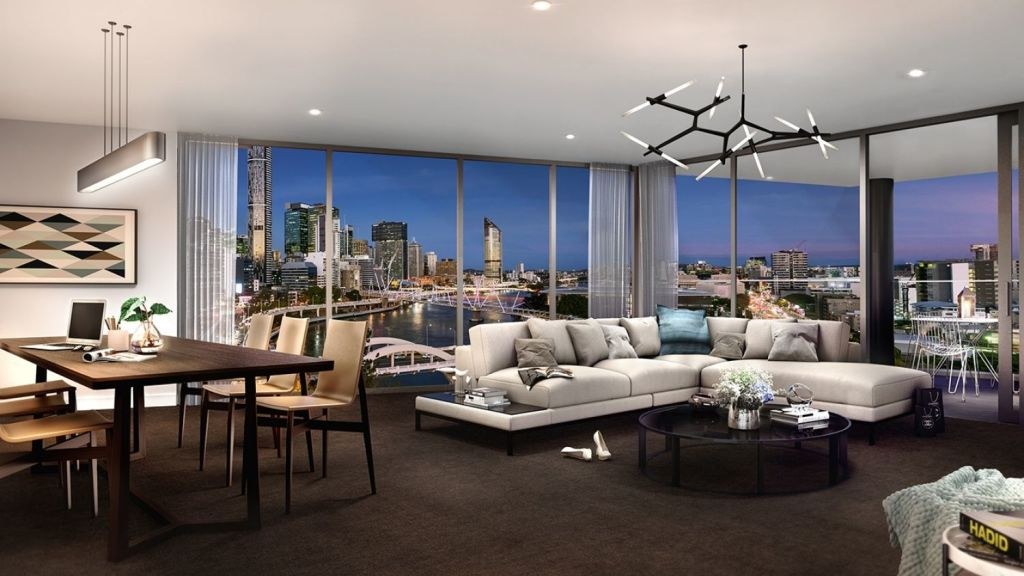 Position Properties are selling the Bridges development in Brisbane City. Photo: Supplied