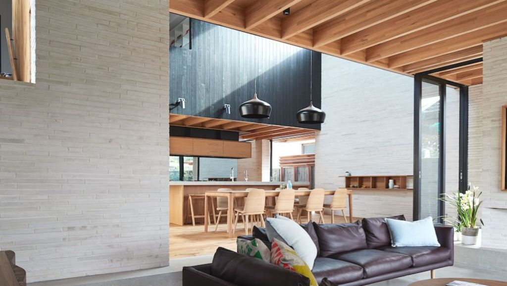 Brick House designed by Andrew Burges Architects, is also among the shortlisted houses. Photo: Peter Bennetts.