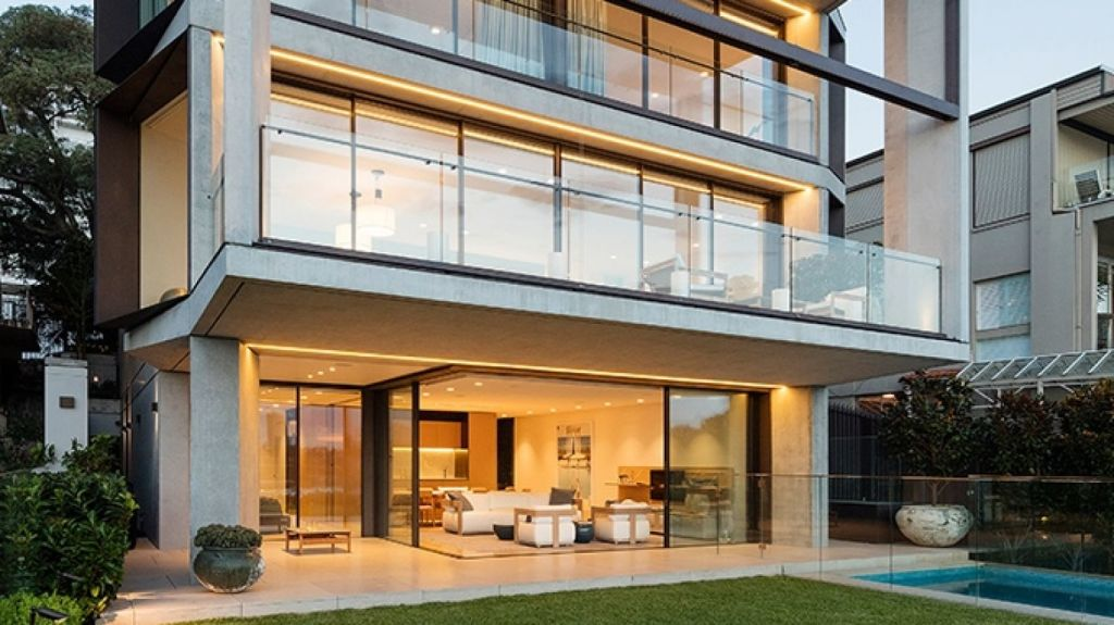 Tzannes' Point Piper Residence is among the four shortlisted Sydney homes. Photo: John Gollings
